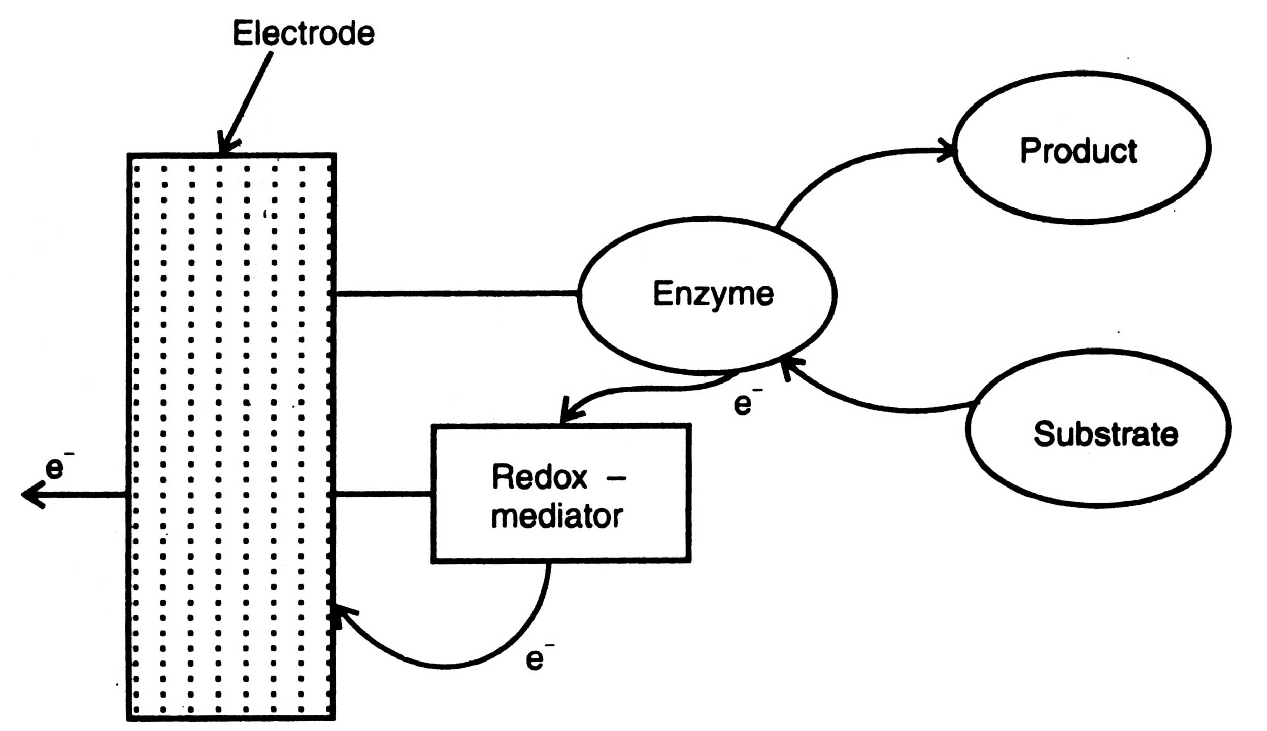 biosensors or enzyme electrodes Figure 2 schematics of the most common transducers in molecular and whole‐cell biosensors (a) three electrode arrangements for amperometric or voltammetric detection (eg of enzymatic conversion.