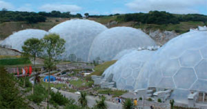 Geodesic biome domes at the Eden